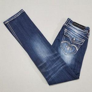 Rock Revival Sasha Straight W/Sequin Pockets Sz 28